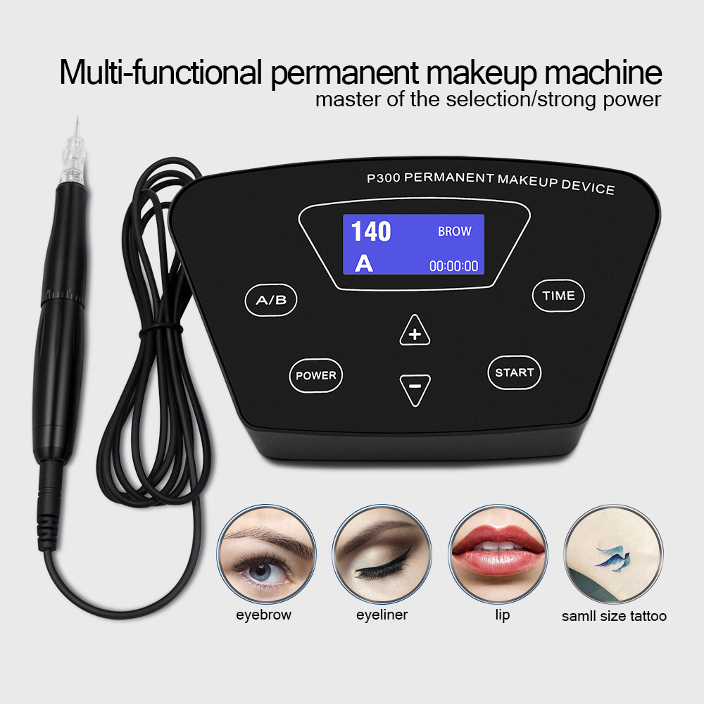Biomaser Professional Permanent Make Up Machine For Eyebrow Tattoo Microblading Makeup DIY Kit With Tattoo Needle