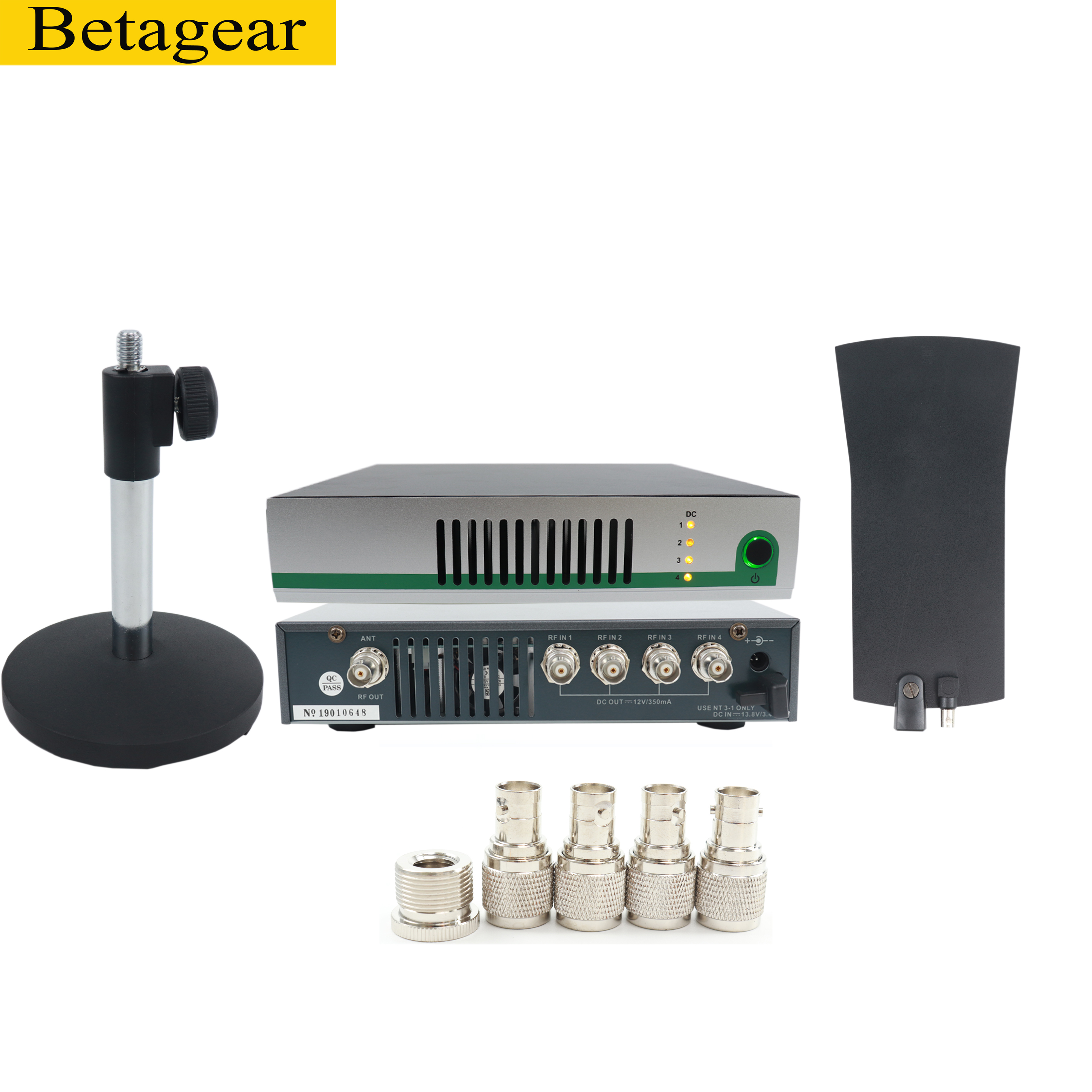 Betagear AC4 UHF Wireless System Antenna Power Distribution Amp+Active Transmitter Combiner For In Ear Monitor SR2050 IEM