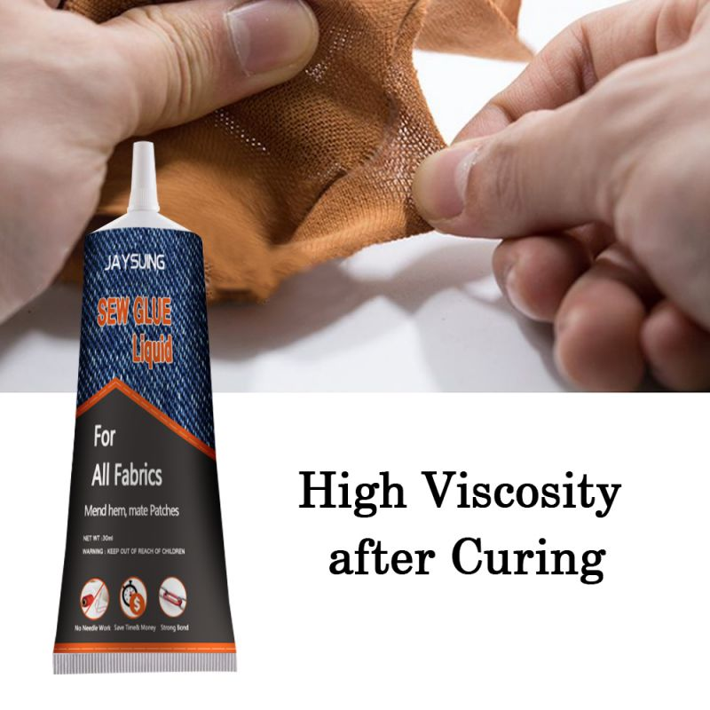 30ML Fabric Adhesive Sew Glue Multifunctional Repair Glue Fast Curing No Irritation High Viscosity Strength For Clothes, Fabrics