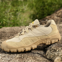 Outdoor Men Hiking Shoes Waterproof Breathable Tactical Combat Army Boots Desert Training Sneakers Anti-Slip Trekking Shoes цена