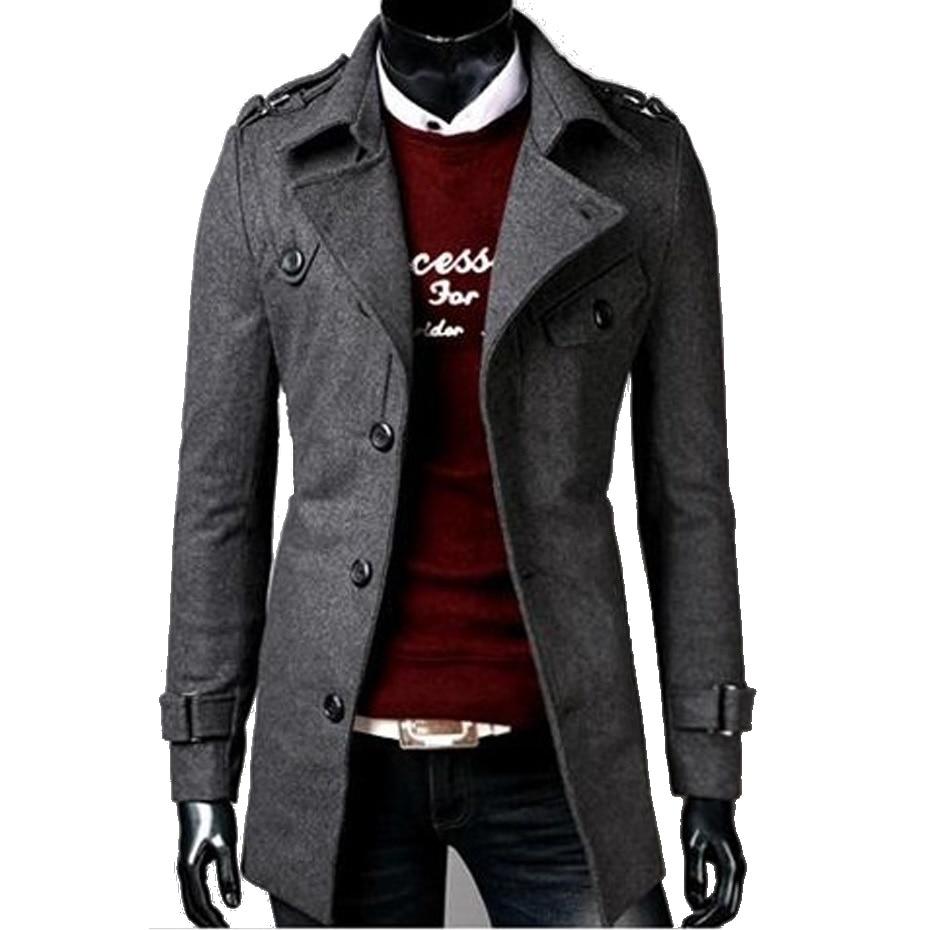 Vogue Mens Trench Coat Nice New Fashion Designer Men Long Coat Men Winter Long Coat Slim Trench Jacket Parka Mens Overcoat