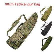 98CM impermeabile tattico Airsoft Rifle Scope Case Shot gun Pack caccia militare Paintball schiuma di gomma Sniper Long Gun Bag Gear