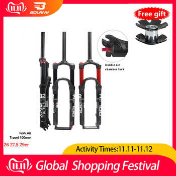 2019 New 26/27.5/29er MTB Suspension Air Fork Magnesium Alloy Double Shoulder Double Air Oil Line Lock Straight Tapered Fork - DISCOUNT ITEM  20% OFF All Category