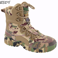 Esdy Men Winter Boots Men Military Boots Tactical Desert Combat Ankle Boots Army Work Shoes Men Leather Boots Winter Men Shoes military tactical boots desert combat outdoor army hiking travel botas shoes leather autumn ankle men boots winter boots