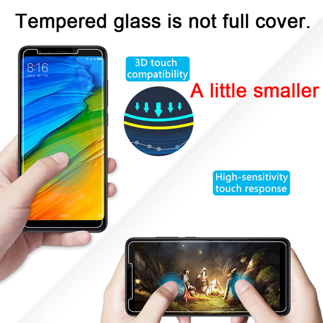Toughed Screen Protector for Xiaomi Redmi 7 K20 6 Pro 5 Plus Tempered Film 9H HD Protective Glass on Redmi 7A 6A 5A 4A 4X