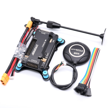 цена на APM2.8 APM 2.8 flight controller board+M8N GPS built-in compass +gps stand+shock absorber+xt60 power module for RC Quadcopter