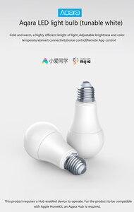 Image 3 - Original Aqara 9W E27 2700K 6500K 806lum Smart White Color LED Bulb Light Work With Home Kit And MIjia app