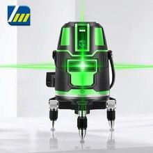 Laser verde nível 2 3 5 linhas cruzadas laser-nível de medição horizontal 360 linhas verticais rotatable alarme de equilíbrio automático interior novo