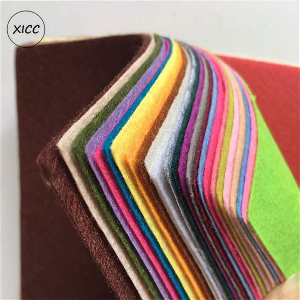 XICC Colours 1mm Non Woven Felt Fabric For Kids Nursery School Toy Dolls DIY Craft Wall Exhibition Bundle Sewing Accessories