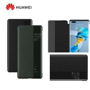 Image 1 - Original Huawei HUAWEI P40/P40 Pro/P40 Pro+ P40 Pro Plus Smart View Cover Leather Protection Auto Sleep Wake Flip case