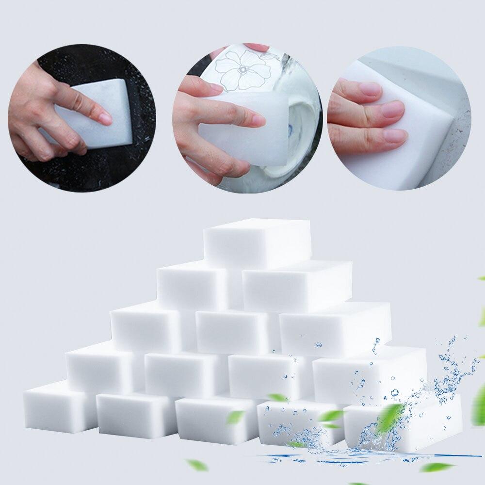 Limpador mágico multifuncional, limpador super limpo, esponja de melamina, acessórios de cozinha 100x60x15, 100 peças uso doméstico de mm