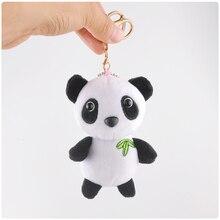 Cute Mini Panda Plush Pendant 10CM Lovely Keychain Plush Toy Doll Tiny Grab Machine Doll Kids Toy Gift