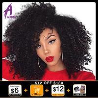 Mongolian Afro Kinky Curly Bundles 4B 4C Hair Extensions 8 30 Human Hair Weave Bundles 3 Pieces Alimice remy Hair 1B#