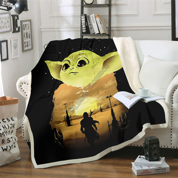 Star Wars Baby Yoda Blanket Design Flannel Fleece Blanket Printed Children Warm Bed Throw Blanket Kids Blanket style-6 фото