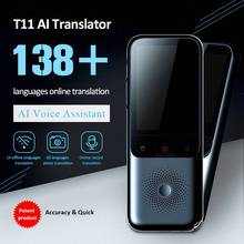 T11 Smart Instant Translator 138 Languages Online Offline Dialect Real time Voice Recording Translation HD Noise Reduction