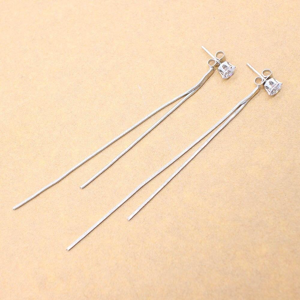 2020 New Long Crystal Tassel Gold Color Dangle Earrings for Women Wedding Drop Earing Fashion Jewelry Gifts 2