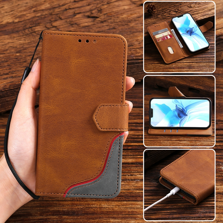 Luxury Leather Wallet Case For Samsung Galaxy S21 S20 FE S10 S9 S8 Plus S7 Edge Note 8 9 10 Pro 20 Ultra Phone Holder Case Funda