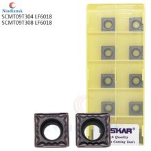 10PCS High Quality SCMT09T304 LF6018 SCMT09T308 LF6018 DESKAR Carbide Insert CNC Lathe Turning Inserts For Stainless Steel Parts