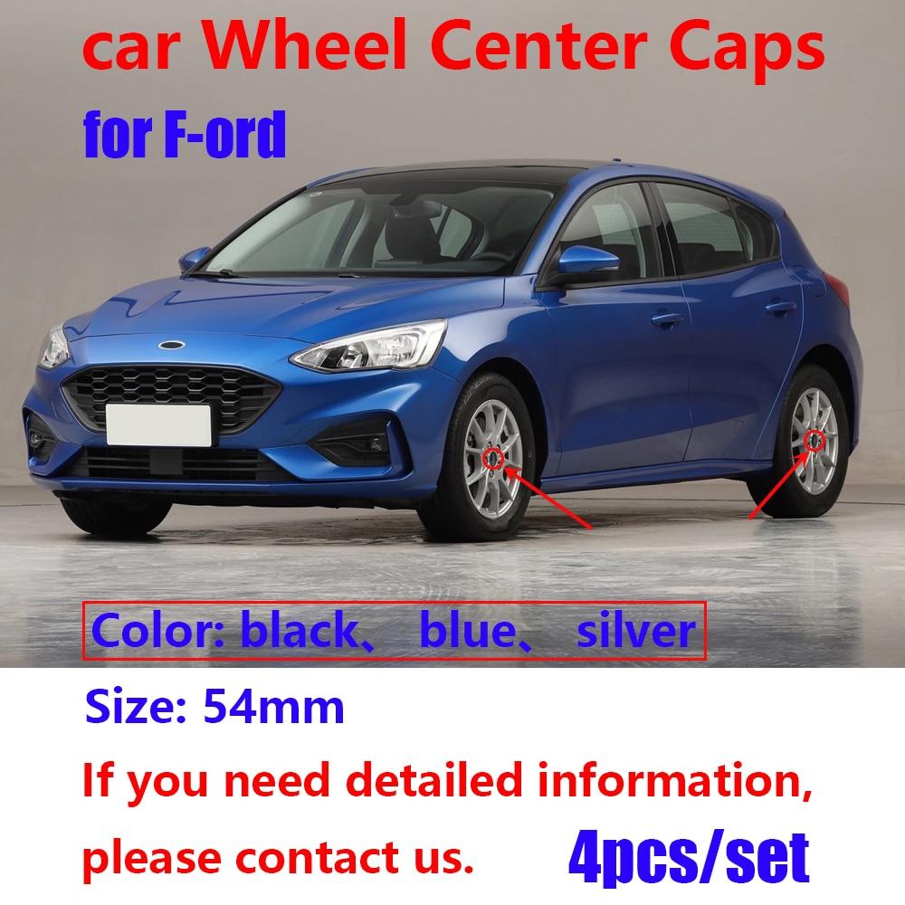 4pcs 54mm 60mm Car Wheel Center Caps rim hub Covers Emblem Logo Badge FOR ford Fiesta Focus Fusion Mondeo decorative Sticker
