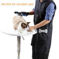 Nylon Pet Kosmetikerin Arbeit Kleidung Schürze Für Hund Katze Bad Friseur Pflege Anti Kleben Kittel Kleidung Pet Shop Robe Kleid