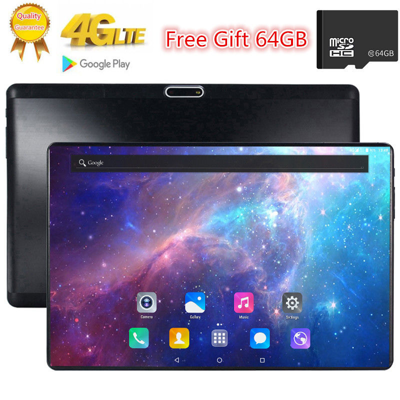 Free Gift 64GB TF Card 1920X1200 2.5D Tempered Glass Screen 10.1 Inch Octa Core 3G 4G FDD LTE Tablet 3GB RAM Android 7.0 Tablets