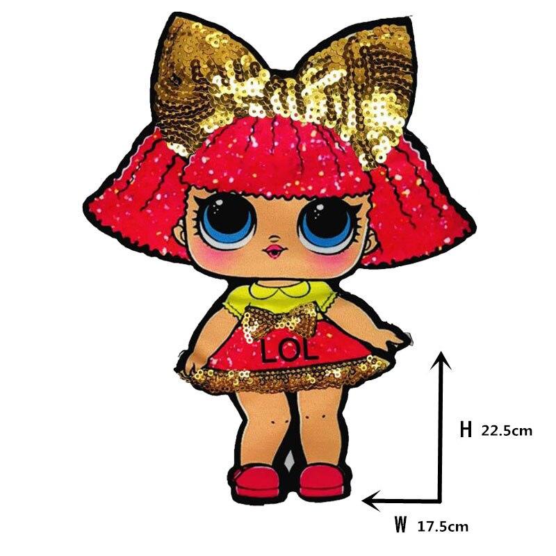 Мультяшные нашивки женские модные куклы лол для девочек Милая Модная Кукла-мальчик вышивка на одежду ручная работа украшение одежды Блестки Ткань - Цвет: WW-26