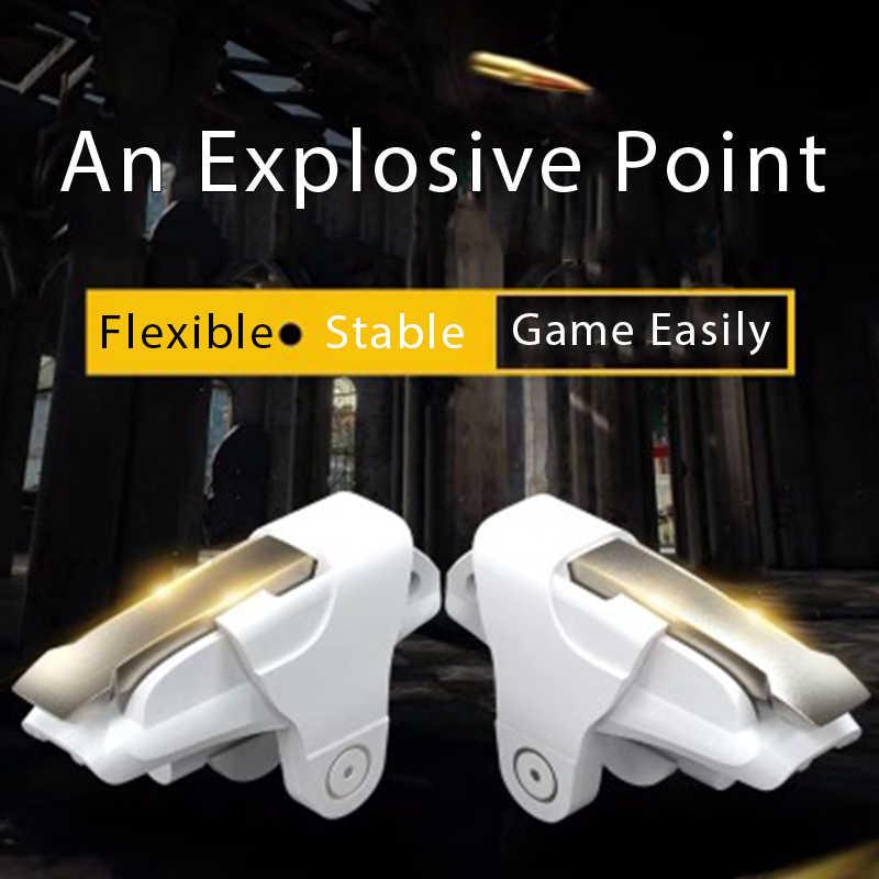 2 ピース/ロット電話携帯ゲーム用 pubg 携帯ゲーム火災ボタン目的キー L1R1 シューティングゲームコントローラゲームパッドのための iphone xiaomi