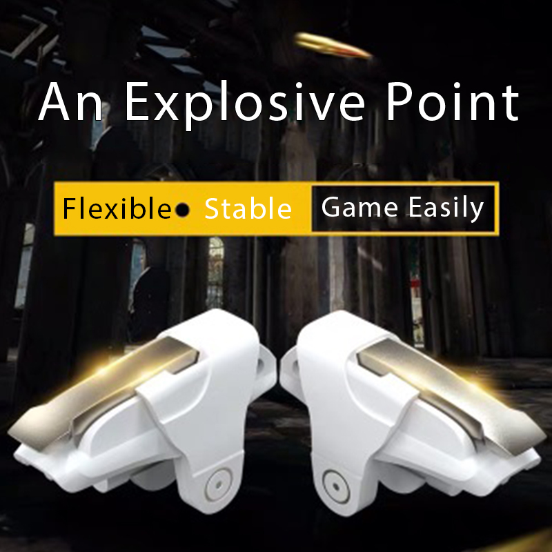 2pcs/lot Phone Mobile Gaming Trigger For PUBG Mobile Game Fire Button Aim Key L1R1 Shooter Controller Game Pad For IPhone Xiaomi