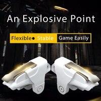 Controle de jogos de celular pubg 2 pçs/lote  gatilho para jogos de celular  botão de atirar  mira  chave l1r1  almofada de jogo para dispositivos móveis xiaomi iphone e xiaomi