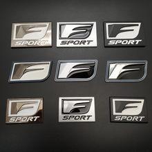 Estilo do carro adesivos f esporte para lexus is200t is250 rx300 nx rx gs rx330 rx350 ct200 corpo emblema metal adesivo decorativo