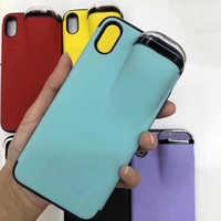 2 In1 coque de téléphone Avec Airpods étui pour iphone 11 Pro Max Xs Max XR 8 7plus Téléphone Silicone AirPods Support Boîtier AirPods Couverture