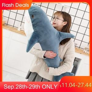 80/100/140CM Big Size Toy Plush Shark Stuffed Animals Cute Sleeping Pillow Soft Toys Cushion Shark Stuffed Gift For Children(China)