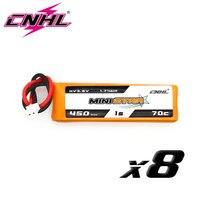 8 Uds CNHL MiniStar HV 450mAh 3,8 V 1S 70C Lipo batería con PH 2,0 macho para RC FPV Drone Quadcopter Mini Emax TinyHawk Happymodel