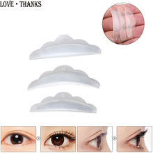 3 pairs Silicone Eyelash Perm Pad Recycling Lashes Rods Shield Lifting 3D Eyelash Curler Makeup Accessories Cosmetics Tools