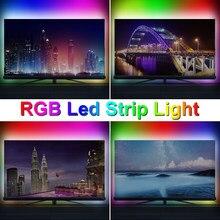 Bande lumineuse néon Led USB, bande lumineuse Flexible 5V RGB bande lumineuse Flexible 2835 SMD RGBW ruban à Diode blanche à rétro-éclairage de la télévision 220V
