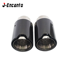 Brand New Car Carbon Fiber SUS304 Stainless Exhaust End Tail M Tips inlet 60mm outlet 93mm for BMW 1 2 3 4 5 6  series