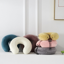 Cushion Candy Color High U-Shaped Neck Pillow 4 Style Seat / Back Polyester Comfort Pillowcase + Pillowcore