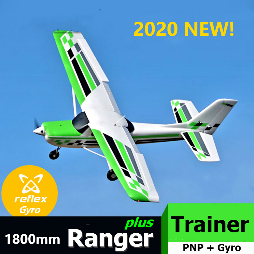 FMS RC Airplane Plane 1800mm Ranger Trainer 4S 5CH With Flap With Reflex Gyro Auto Balance Controller Model Hobby Aircraft Avion