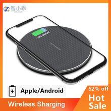 Быстрое беспроводное зарядное устройство для телефонов стандарта QI Android S9 S10 S20 Note9, быстрая Беспроводная зарядная площадка для телефона 11 Pro ...