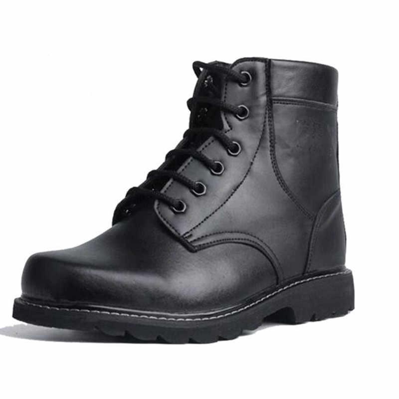 Ture Wolle arbeit Schuhe Arbeiten Stiefel Wasserdicht Military Stiefel Männer Leder Schuh Taktische Stiefel Botas Seguridad Invierno