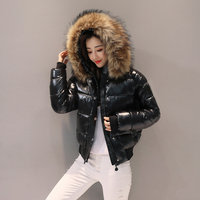 2019 New Winter Jacket Cotton Jacket Women's Cotton Padded Slim Coat Women Parkas Thick Female Outerwear Red Black Clothing