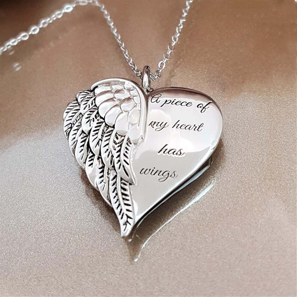 """A Piece of My Heart Has Wings"" Angel Necklace 4"