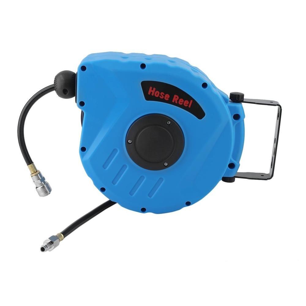 Electric Garden Hose Reels Pneumatic Hose Reel Tympania Automatic Rolling Tube Device Washing Shrinkage Drum 10M