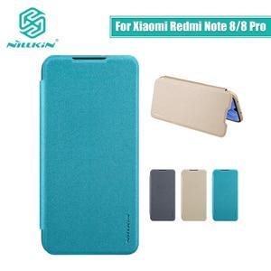 Image 1 - For Xiaomi Redmi Note 8 Pro case cover 6.53 NILLKIN for xiaomi redmi note 8 case cover 6.3 Sparkle flip cover PC back cover