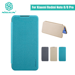 Image 1 - Voor xiaomi redmi note 8 Pro case cover 6.53 NILLKIN voor xiaomi redmi note 8 case cover 6.3 Sparkle flip cover PC back cover