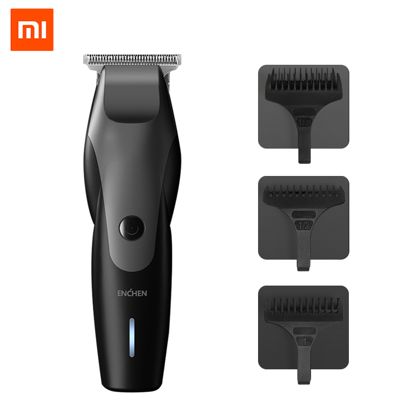 XiaoMi ENCHEN Hair Clipper Professional Trimmer Men's Beard Cutting Machine USB Charging Wireless Hair Trimmer Waterproof