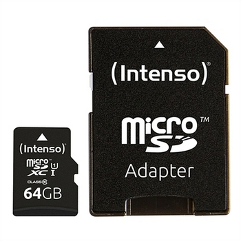 Micro SD Memory Card with Adaptor INTENSO 34234 UHS-I XC Premium Black