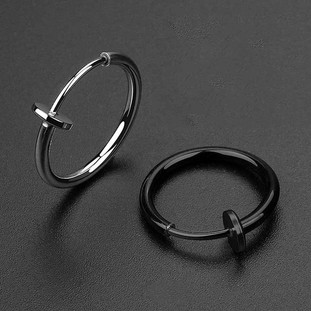 1pcs10 12 14 16 18mm Steel Hinged Clicker Circle Ring Piercing