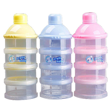 1x Portable Baby Infant Feeding Milk Powder&Food Bottle Container 4 Cells Grid Box Random Color
