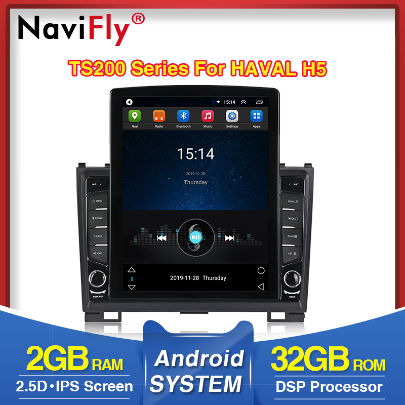 NaviFly HD 1024*768 Russan Menu For Great Wall Hover H5 H3 Car Multimedia Radio Player DSP IPS Screen Wifi Radio FM AM DVR